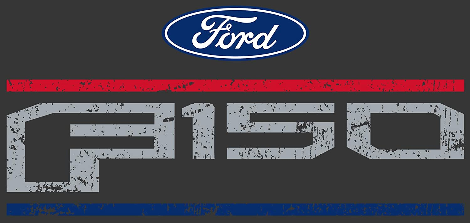JH DESIGN GROUP Mens Ford F150 Distressed Logo Crew Neck T-Shirt