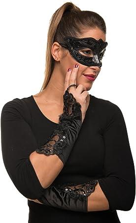 Máscara veneciana Balinco + guantes en juego para carnaval ...