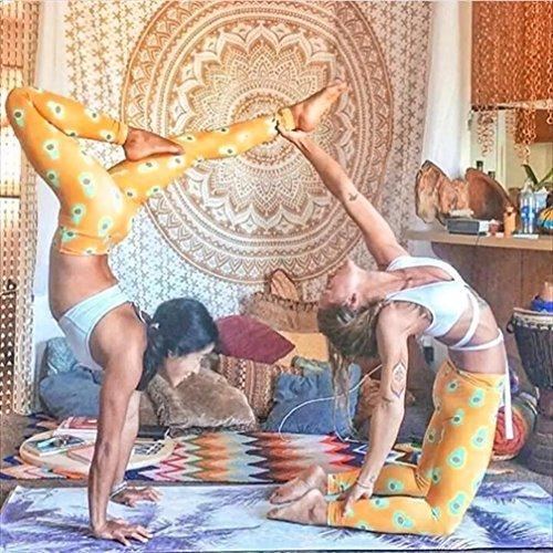 Pantalones elásticos de yoga Mujer SHOBDW Cintura alta de elásticos de Pantalones deportivos elásticos Gimnasio Entrenamiento Fitness Lounge Athletic Pants de Niñas y Madre Crianza Naranja