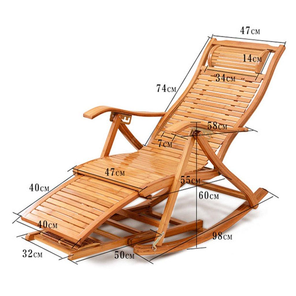 Sillón reclinable Bamboo Mecedora Silla plegable para ...