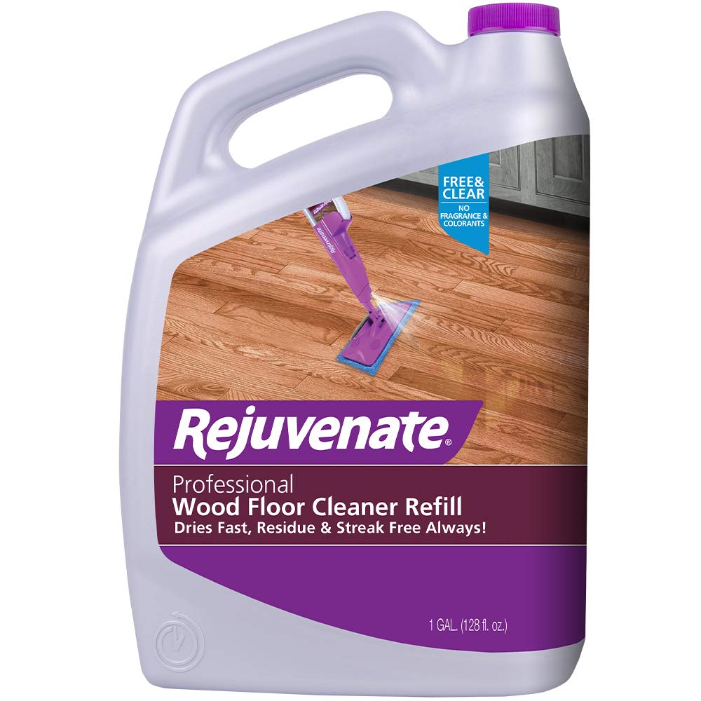 Rejuvenate High-Performance Professional Hardwood Floor Cleaner Streak-Free Formula Eliminates The Toughest Dirt and Grime with Little Effort 128oz by Rejuvenate