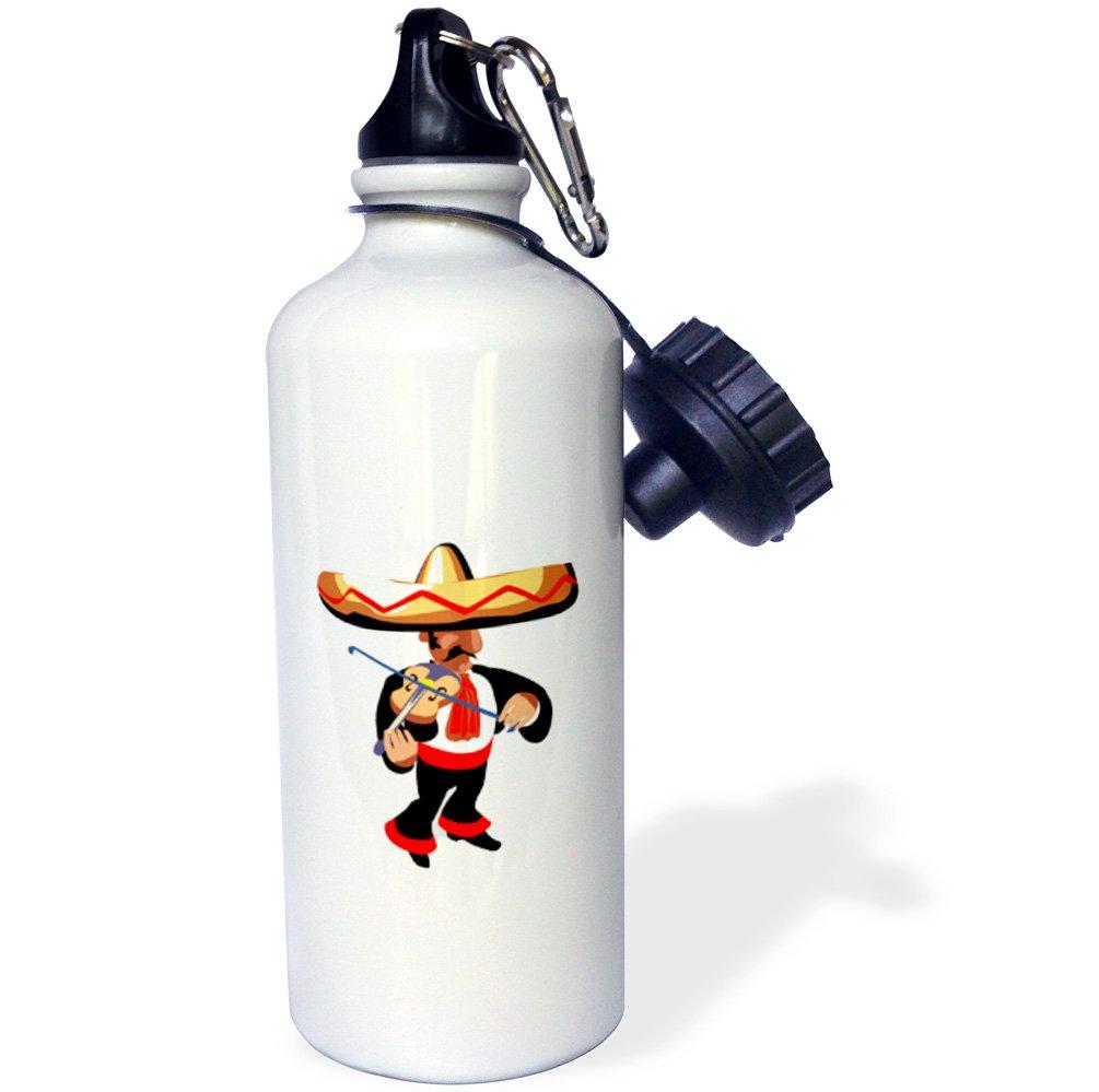 White 3dRose wb/_164443/_1vibraphone simple instrument design Sports Water Bottle 21 oz