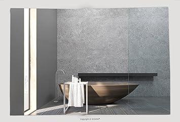 Superweicher Fleece Überwurf Decke Innen Des Bad Mit Schmale Fenster,  Holzzuber Beton Wände Und Eine