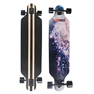 MAGIC UNION 41 Inch Maple Drop Down Longboard Complete Skateboard – Best  Drop Down Longboard and Greatest for Heavy Rider 0371db2a8