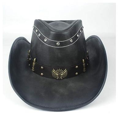 GHC gorras y sombreros Sombrero de vaquero occidental de cuero for ...
