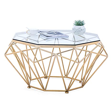Amazon Com Dxjni Golden Wrought Iron Coffee Table