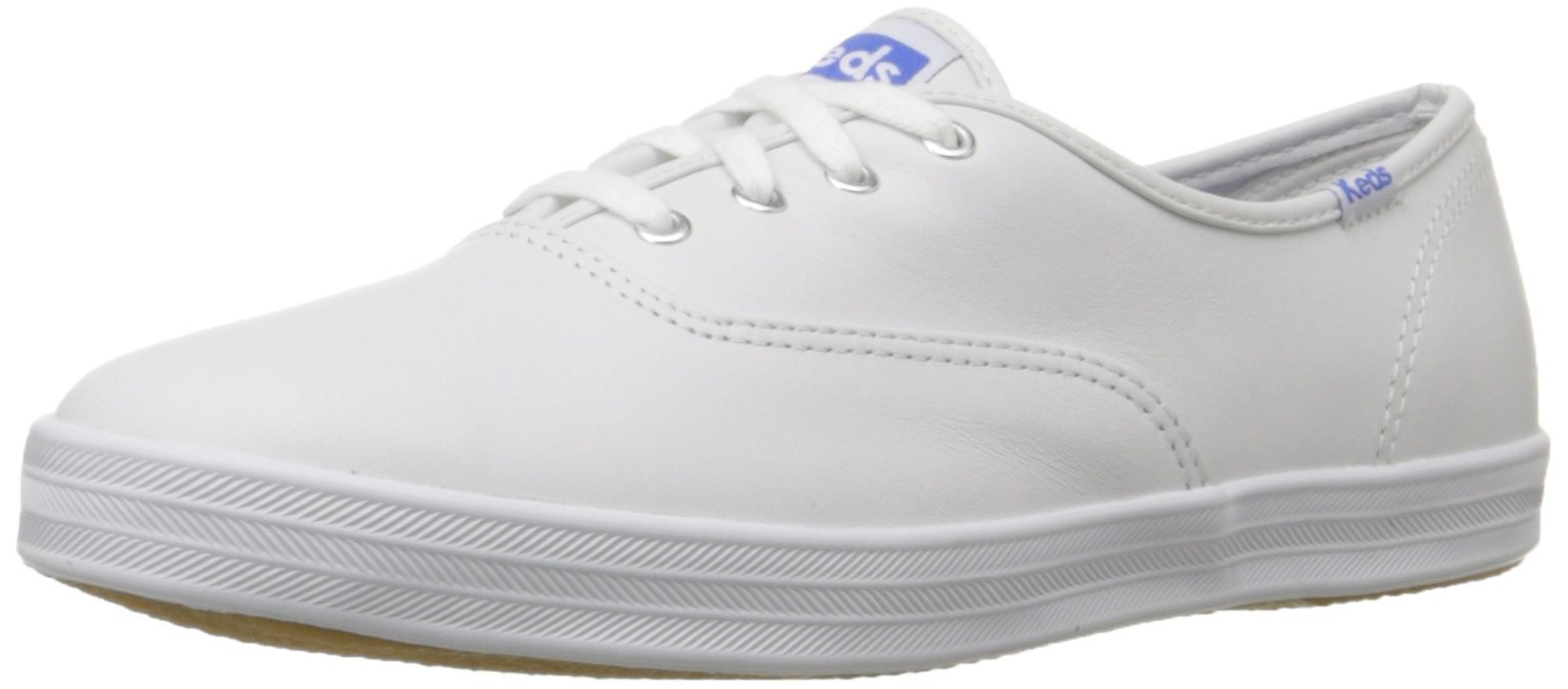 Keds Women's Champion Original Leather Sneaker,White Leather,8 M US