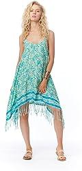f11ea01a2d Lagaci Women's Paisley Print Dress Fringe Detail