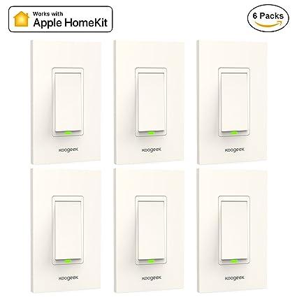 Koogeek Smart WiFi Light Switch for Apple HomeKit with Siri Remote ...