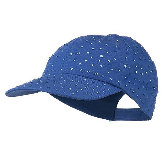 d8b2e547e43 SS Hat Bejeweled Glitter Baseball Cap - Blue OSFM at Amazon Women s ...