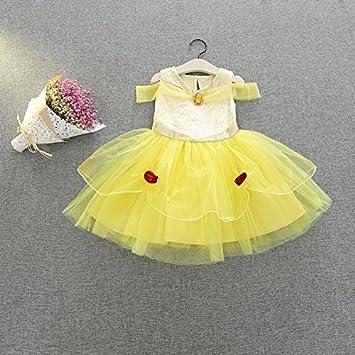 045a71f4a2f58 m151 ベルドレス 美女と野獣 キッズ 子供用ドレス Belle 女の子 子供プリンセスドレス ドレス なりきり