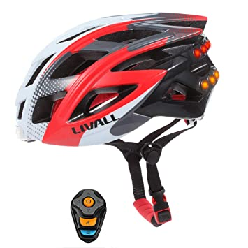 NBZH Smart Bike Bluetooth Casco con Manillar Inalámbrico Control Remoto-Luz Trasera Señales De Giro