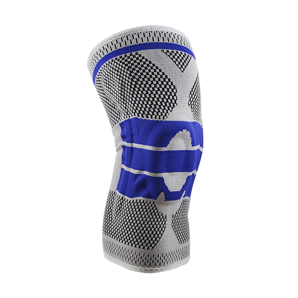 VORCOOL Single Fitness Running Cycling Knee Support Braces Elastic Nylon Sports Compression Knee Pad Sleeve-Sized L Gray