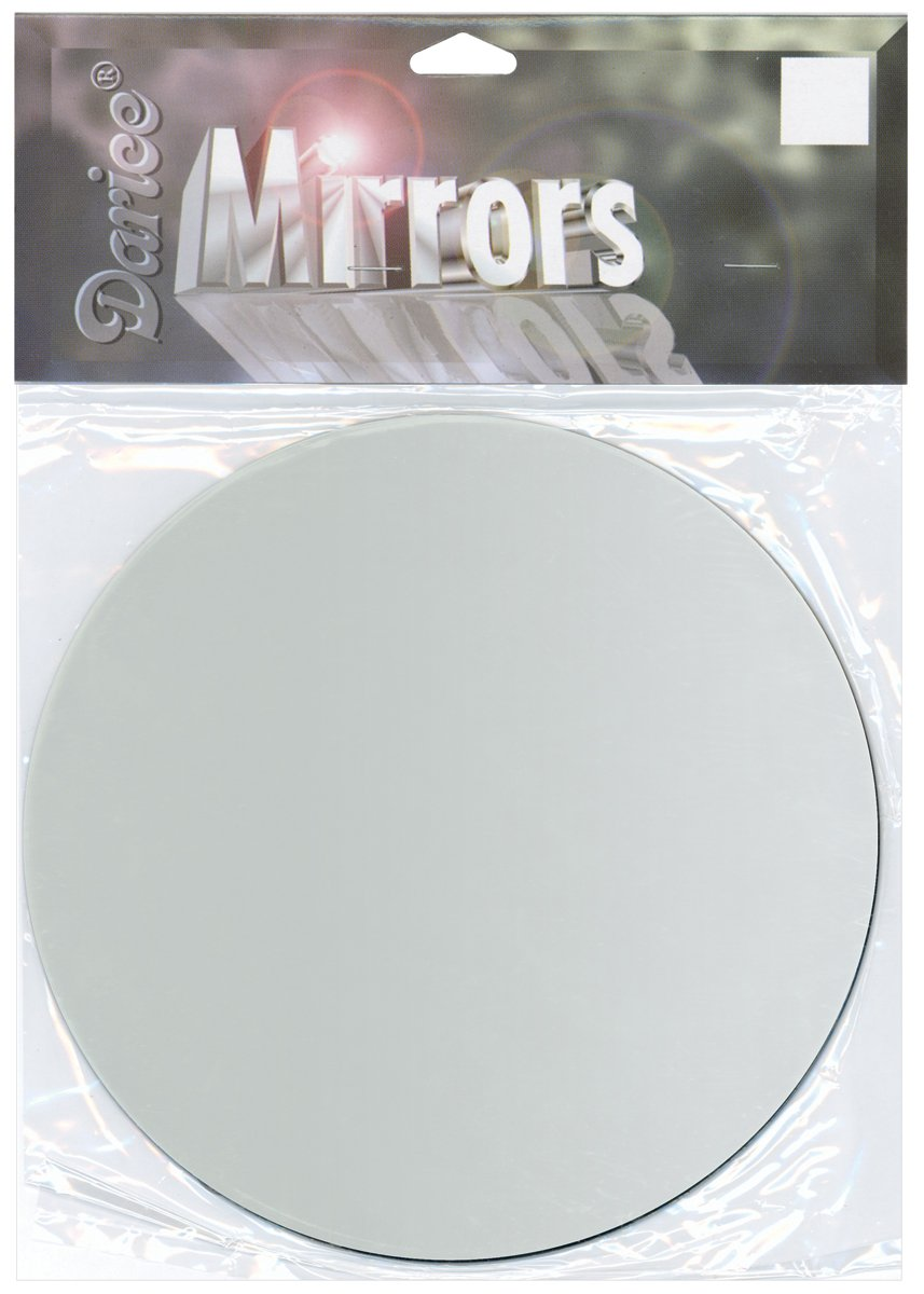 Darice Round Glass Mirror, 6''