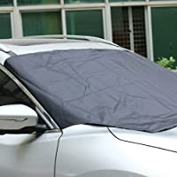 """Windshield Snow Cover, AUTOLOVER Universal Car Sun Shade Protector Magnetic Windshield Cover for maximum UV and Sun protection, Car Windshield Snow Cover with Storage Pouch Fit For Truck SUV And Most Vehicles 57""""x82"""""""