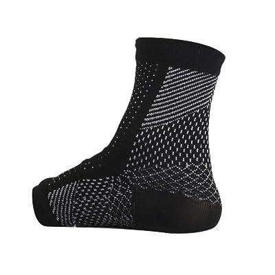 1 Par De Calcetines De Socorro Venas Varicosas Soporte De Compresión De Tobillo Negro S / M