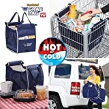 1 X ASOTV Insulated Reusable Grab Bag Grocery Shopping Tote Holds Up To 40 lbs