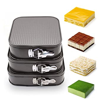 SOIXANTE Set de 3 moldes para Hornear Tartas (para Crear los Pancakes: Amazon.es: Hogar