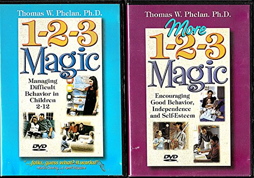 1-2-3 Magic - Managing Difficult Behavior in Children 2-12 (DVD) **PLUS** More 1-2-3 Magic -- Encouraging Good Behavior, Independence and Self-Esteem (DVD) (2004)