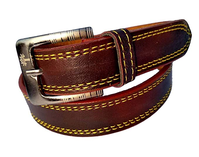 Buy Asjad Vogue kids belt for boys and girl's genuine boys belts for kid's  art 191 22 inch/5-6 years Brown at Amazon.in