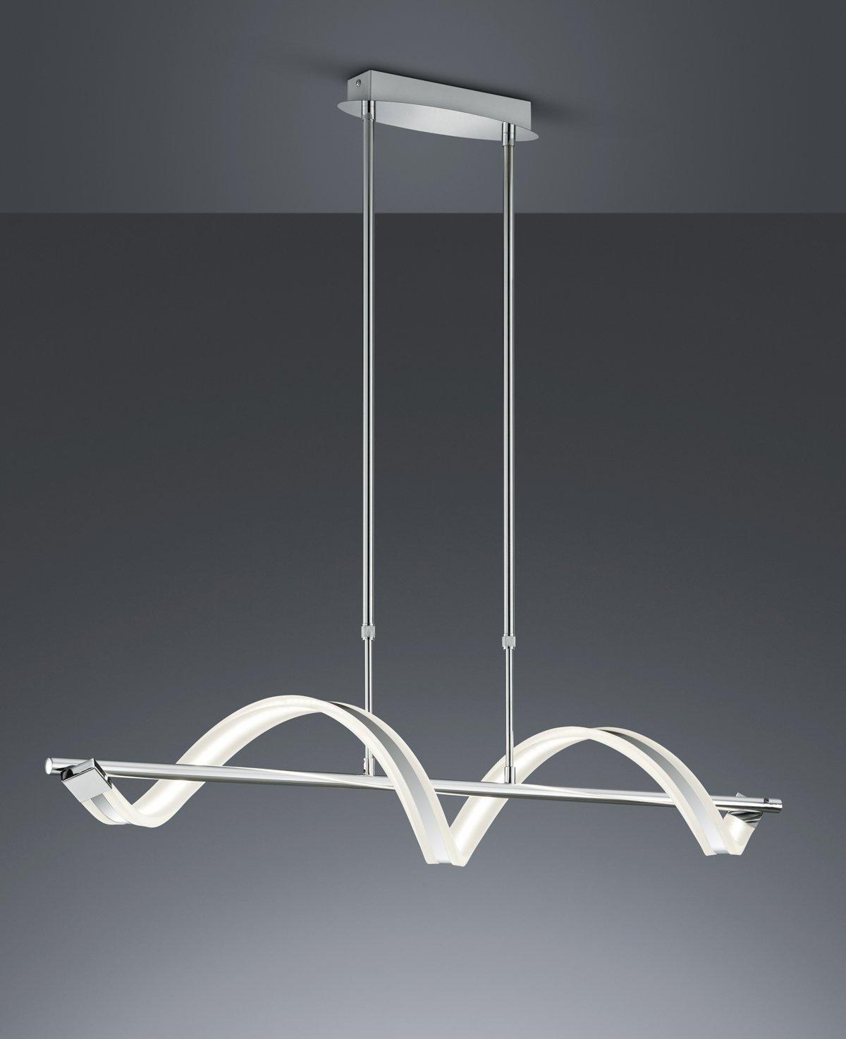 Trio Leuchten LED Stehleuchte, Acryl, Integriert, 20 20 20 W, Chrom, 25 x 25 x 162 cm 272137