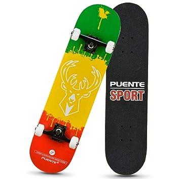 1-1 Skateboard Patineta 4 Ruedas de PU Dibujos Animados Profesional para Adolescentes Niños Principiantes Chicas Muchachos,A: Amazon.es: Deportes y aire ...