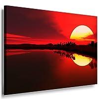 Bilder Kunstdrucke / Boikal / Leinwandbild, Bild mit Keilrahmen Natur Landschaften - Meer Sonnenuntergang 40x30 cm xxl.296