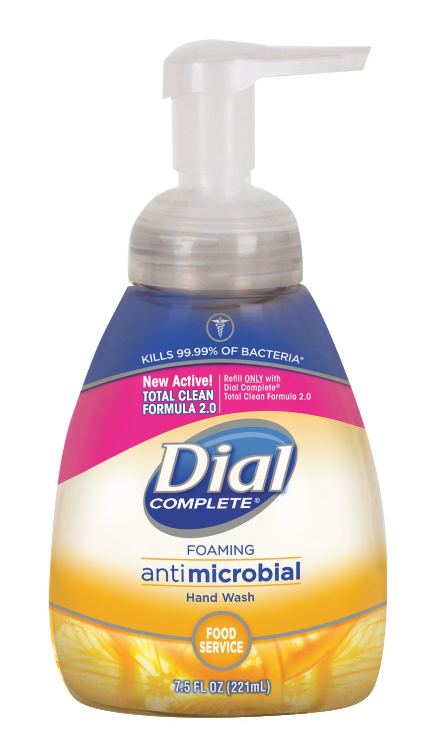 Dial Complete 1210130 Antimicrobial Foaming Kitchen Hand Soap with Tabletop Pump, 7.5oz Bottle (Pack of 8) by Dial