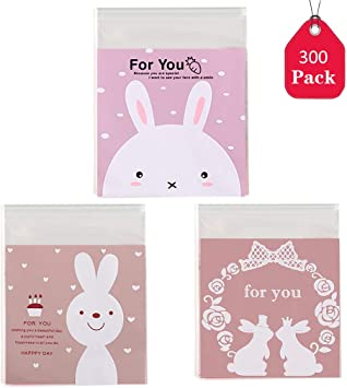 Favors Biscuit Gift Rabbit Cookie Bags Candy Package Packaging Seals Stickers