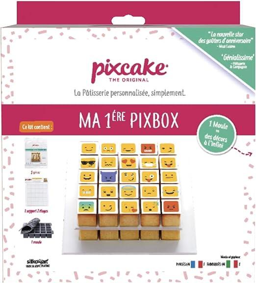 Pixcake Kit Pâtisserie Enfant Et Adulte Ma Première Pixbox Set Complet Avec Moule Silicone Silikomart 1 Décor Gâteau Smiley Supports Pour