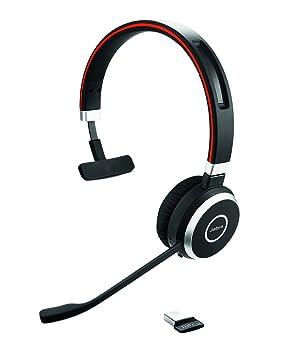 Jabra Evolve 65 MS mono - Auriculares (Monoaural, Negro, Diadema, Wired/