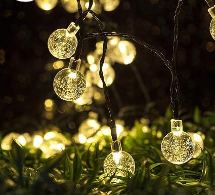 Ollny Solar Bubble Light String Waterproof 5M 30 LED Crystal Ball Lights  Garden Fairy Lights for - Amazon.com : Ollny Solar Bubble Light String Waterproof 5M 30 LED