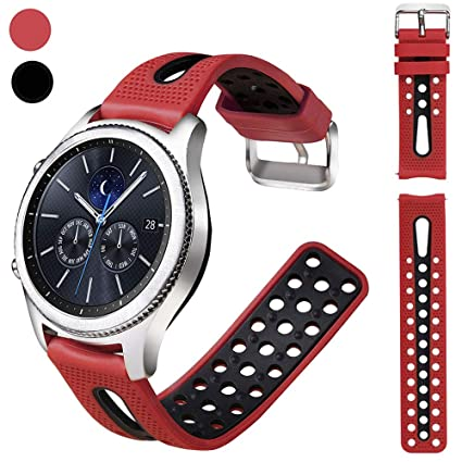 Nigaee 20mm Watch Band Soft Silicone Replacement Bands Quick Release Sport Watch Straps with Breathable Holes for Samsung Galaxy Smartwatch ...