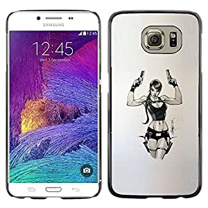 Plastic Shell Protective Case Cover || Samsung Galaxy S6 SM-G920 || Pc Game Chick Guns @XPTECH