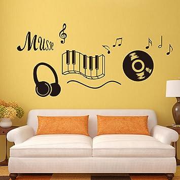 LEE Tastatur Musik Headset Musik Englisch Aufkleber Wohnzimmer Schlafzimmer  Einrichtung Können Die Aufkleber Entfernen