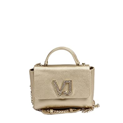 267ae5304e3f7 Amazon.com  Versace EE1VRBBC6 Gold Top Handle Bag for Womens  Shoes