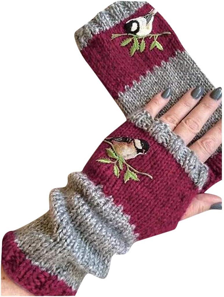 Womens Full Finger Riding Gloves Waterproof Thermal Plush Mittens Glove FM