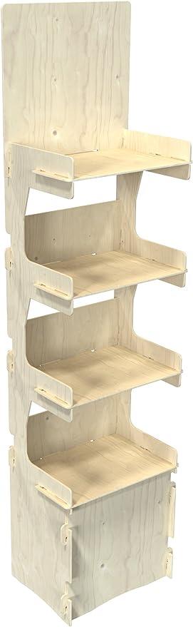 Cemab Italia - Expositor de madera de 4 pisos para tiendas con montaje empotrado: Amazon.es: Hogar
