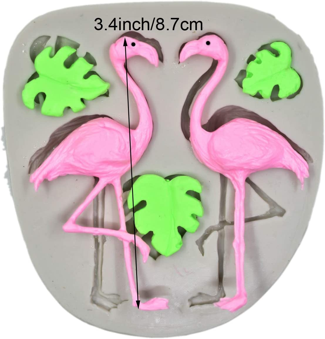 Butter Soap Polymer Clay Crafting Projects Fondant Flamingo//Turtle Leaf Fondant Silicone Mold for Sugar Paste,Candy Wax Resin