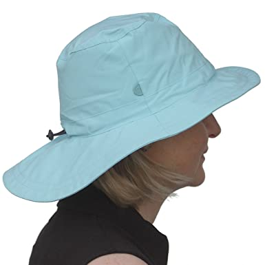220478a20d4 ... Daily Sports Ladies Long Brim Waterproof Golf Rain Hat in Aqua check  out c19ce 66fca ...