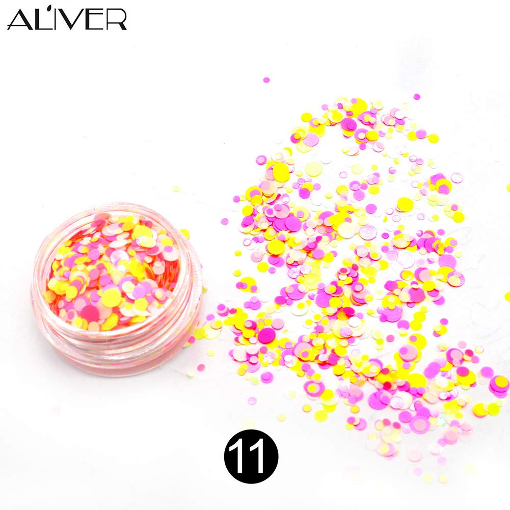 da391cac3376 Majome Deslumbrante Nail Sticker Lentejuelas Colorful Nail Art Decoration  Glitter Jewelry DIY Decal Accessories