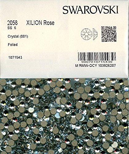 80 strass Swarovski fond plat NO hotfix,2,0mm CRYSTAL 2058 SS6 C