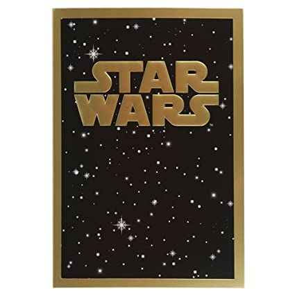 Hallmark Birthday Contemporary Star Wars Gold Foil Card ...