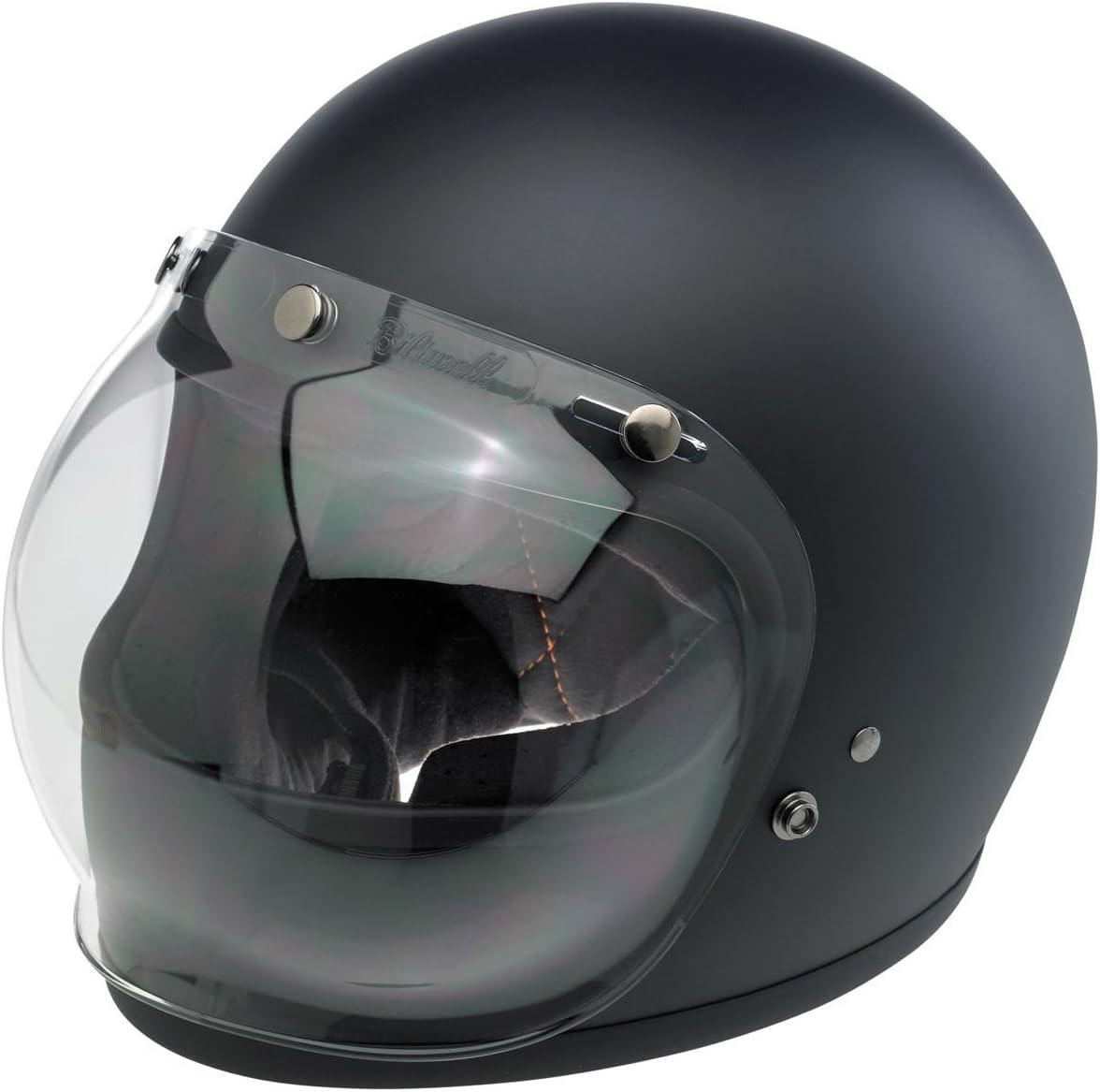 Visier Bubble Biltwell Transparent Beschlagfrei Für Jet Helme Mit 3 Knöpfen Auto