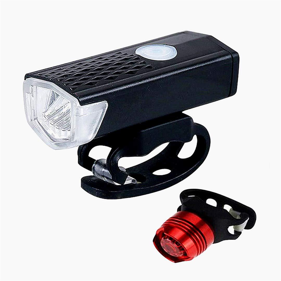 Beito 1 Juego de Bicicletas luz Conjunto de Carga USB Bicicletas Brillante Faro Impermeable de la Linterna de la Bicicleta de Accesorios de liberación rápida de Super Frontal luz Trasera