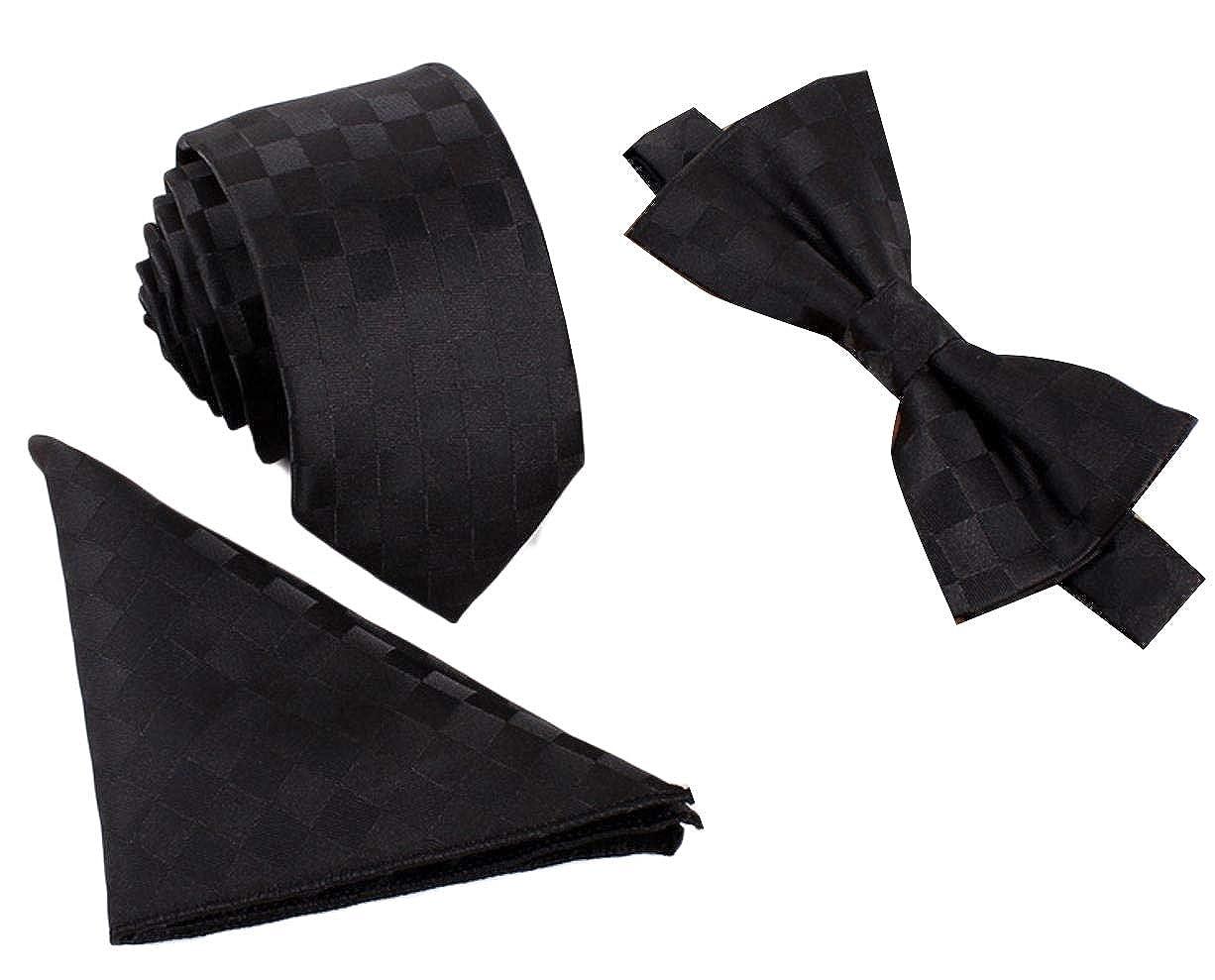 Andopa Uomini Affari Wedding Jacquard Bowknot Cravatta e Pochette Set