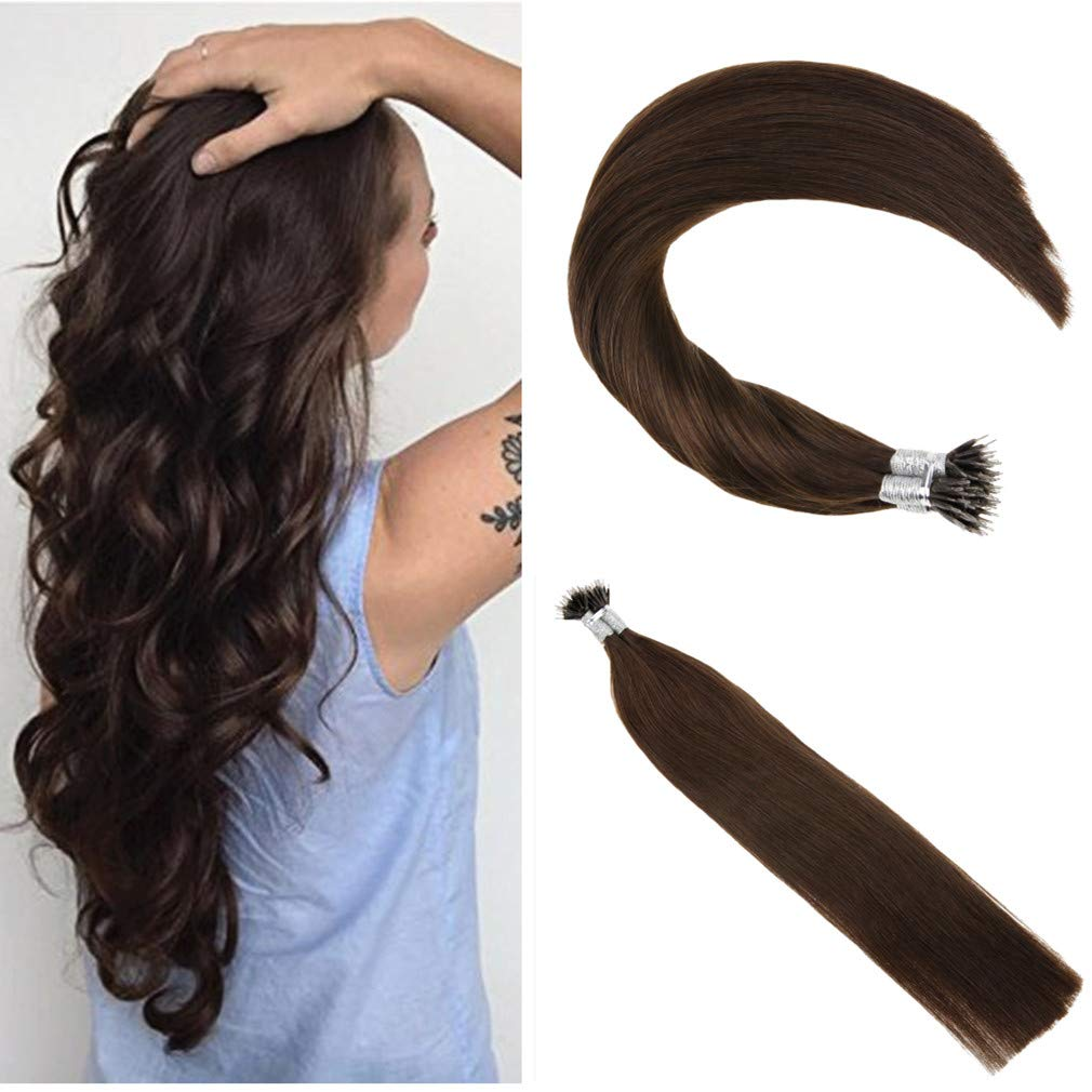 Ugeat 16inch 50 Gram Nano Ring Beads Remy Hair Extensions Piano Color Ash Blonde 18 Mix Color 613 Highlighted Color Real Hair Extensions with Nano Beads Ugeat Trading Company Ltd