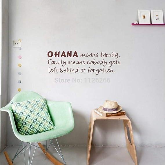 yiyiyaya Ohana Significa Familia Cita Pared Etiqueta de Arte ...
