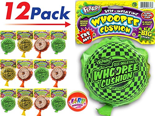2CHILL Whoopee Cushion Flarp (Pack of 12) one Bouncy Ball Prank Self-Inflating. Makes Fart Sounds JA-RU | Item #327-12