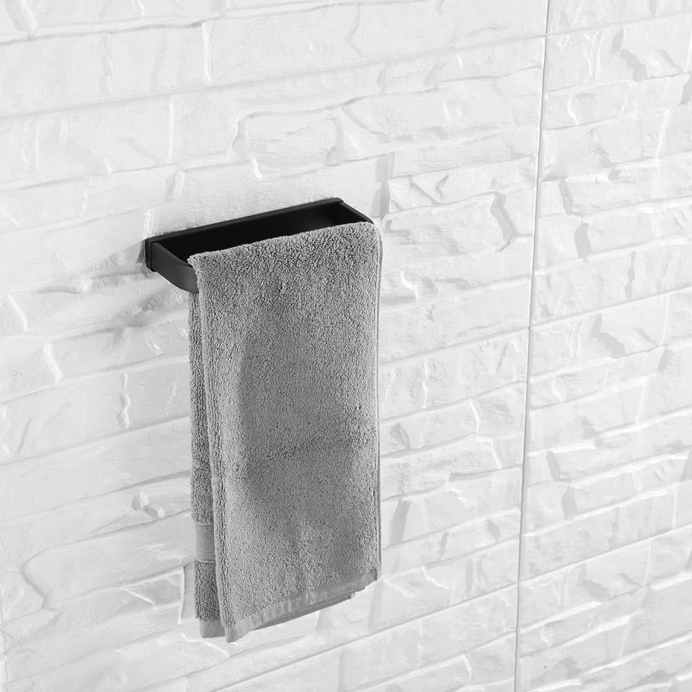 60 cm Flybath negro Toallero de barra de una sola capa de acero inoxidable SUS 304 pulido con espejo y elegante estante de montaje en pared